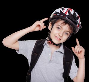 Campagne de sensibilisation au port du casque de vélo - Défi Tête la première