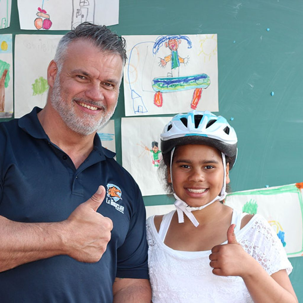 Tournée des écoles 2016 - Défi Tête la première